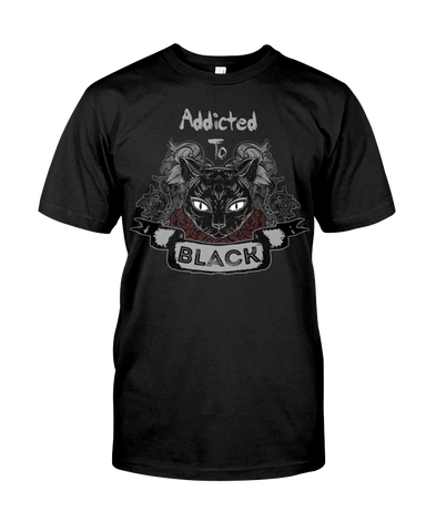 Addicted To Black T-Shirt - GothTopics