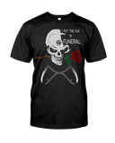 I Put The Fun In Funeral Skull T-Shirt - GothTopics