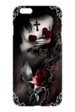 Woman With Roses iPhone Protective Case - GothTopics