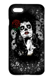 Goth Topics Day of the Dead Woman with Rose iPhone Protective Case