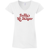 Harley Quinn Daddy's Lil Monster Womens T-Shirt