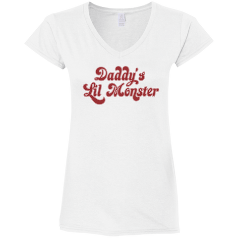 Goth Topics Harley Quinn Daddy's Lil Monster Womens T-Shirt