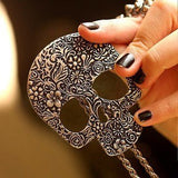 Retro Gothic Skull Necklace - GothTopics