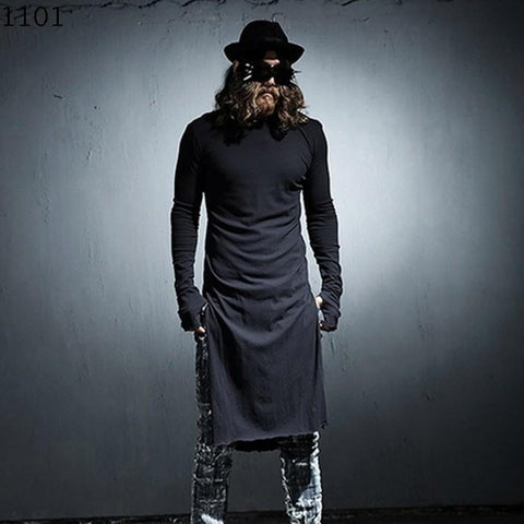 Goth Topics Men's Extended Long Sleeve Gothic Top