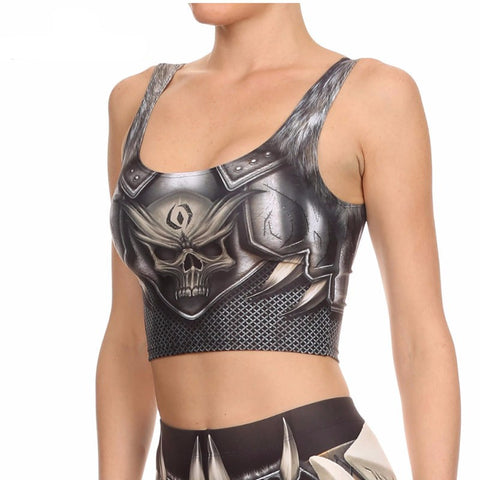Barbarian Crop Top Cosplay Comic Pattern Women's Tank - GothTopics