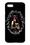 Goth Topics Woman with Skull iPhone Protective Case