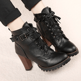 Goth Topics Black Gothic Punk Boots With Buckle