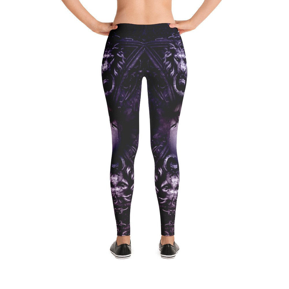 Lion Door Knocker Leggings - GothTopics