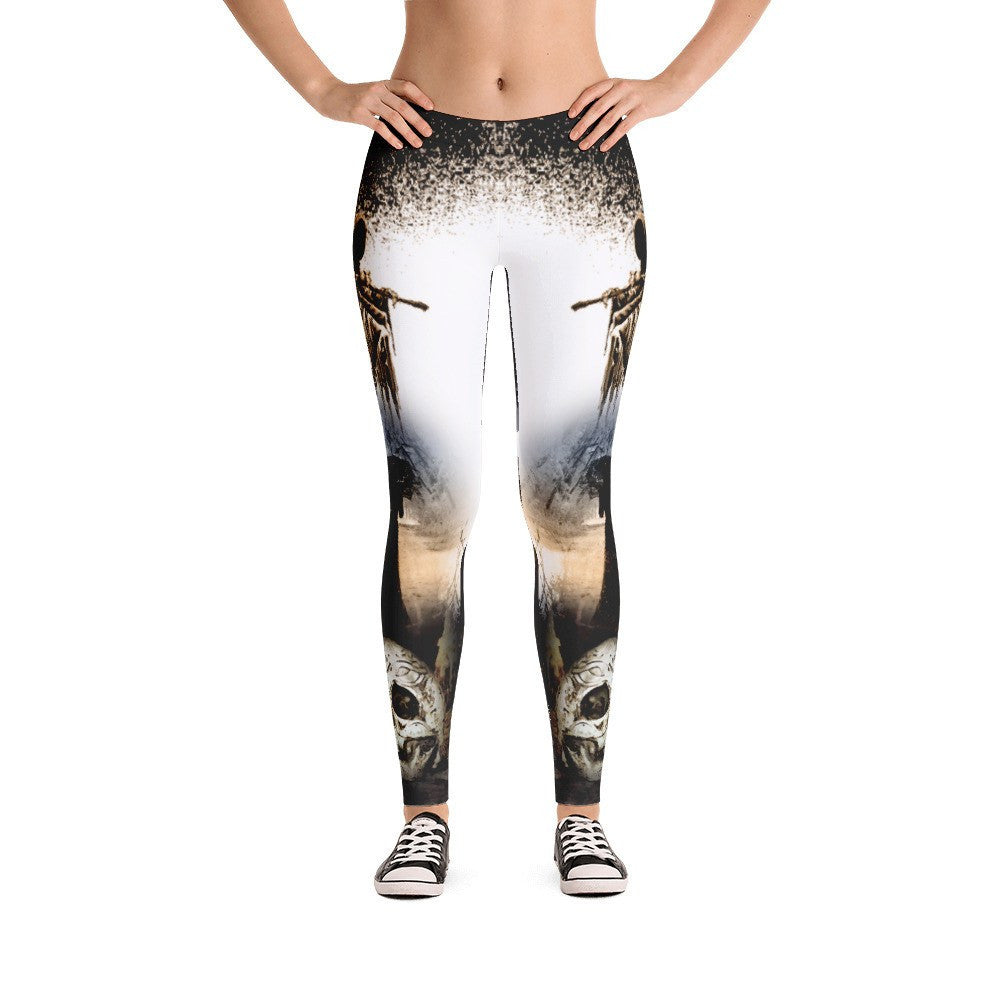 Death Angel & Skull Leggings - GothTopics