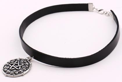 Goth Topics Witcher 3 Gothic Pentagram Choker Necklace