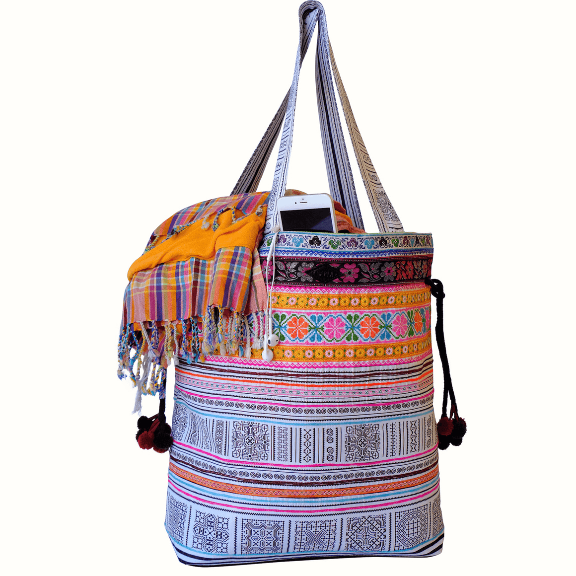 Samui Bags Coral Reef Weekender Bag Handmade Thai Bag