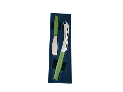 Cheese Knife and Party Spreader Set in Greenery