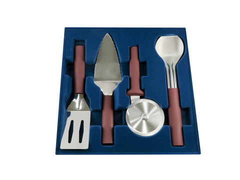 4-piece Serving Set in Merlot