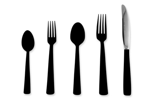 Tahoka 5-piece Flatware Place Setting in Sable