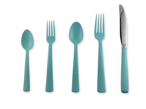 Tahoka 5-piece Flatware Place Setting in Turquoise