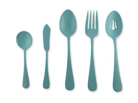Zinnia 5-piece Hostess Set in Turquoise