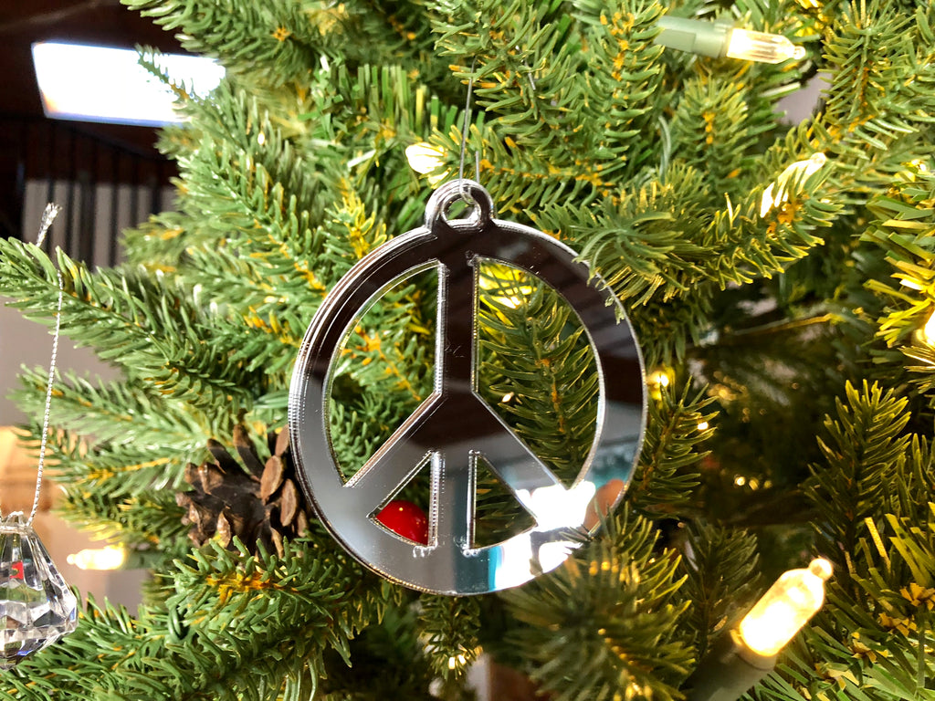 Peace Sign Ornament