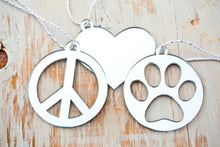 Paw Print Ornament (Set of 3), Peace, Love & Paws Set