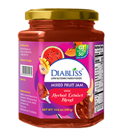 Diabliss Mixed Fruit Jam with Herbal Extract Blend 10 oz - Diabliss