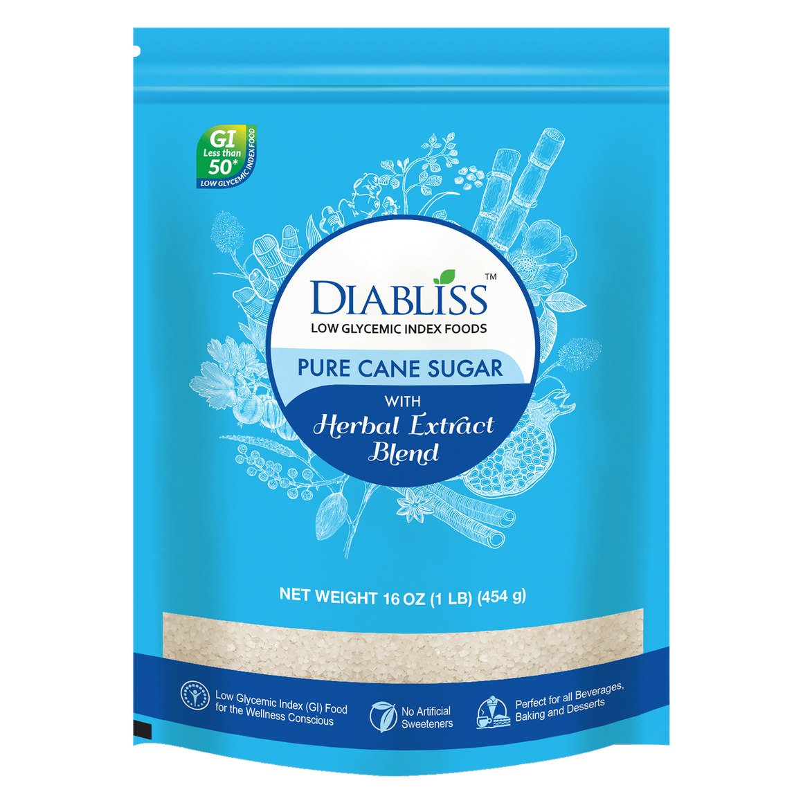 Diabliss Pure Cane Sugar 1LB