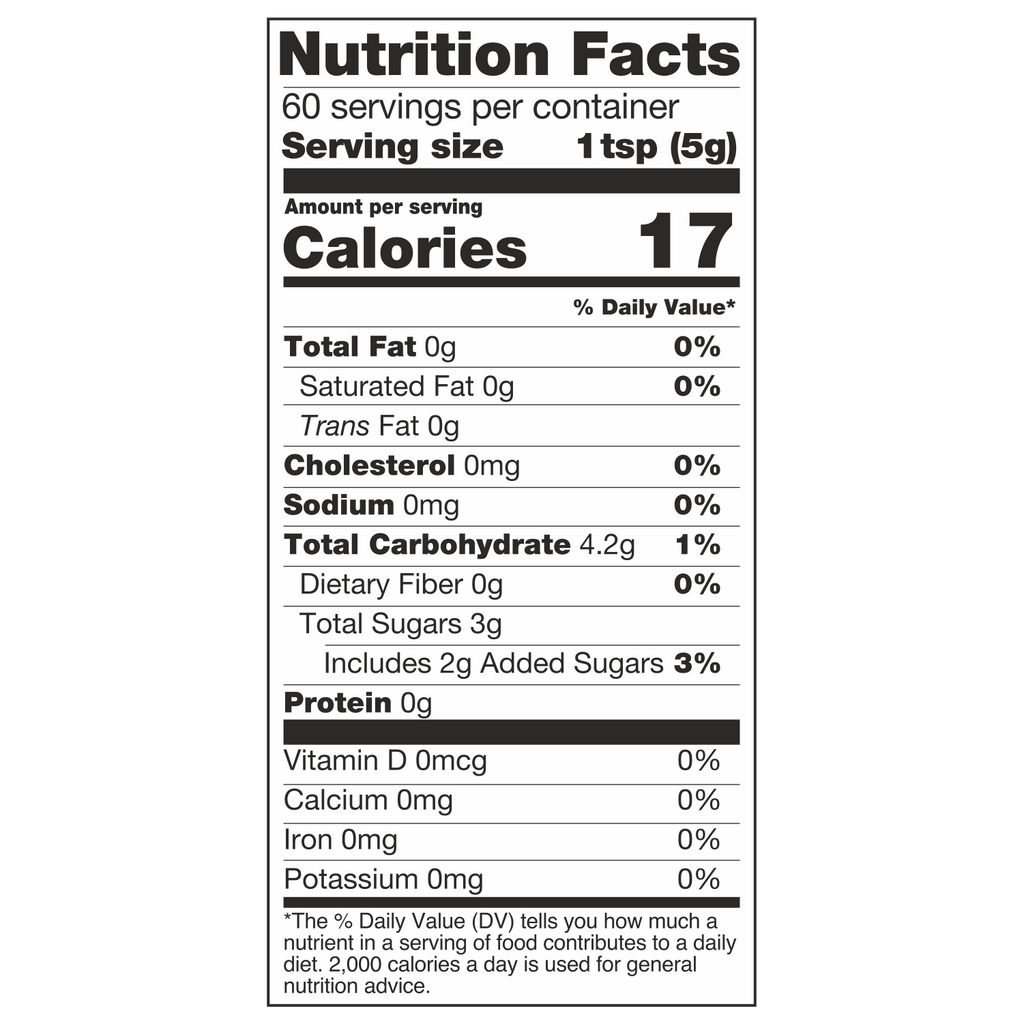 Diabliss Mixed Fruit Jam Nutrition Facts