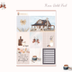 Weekly Planner Kit with Rose Gold Foil - B217