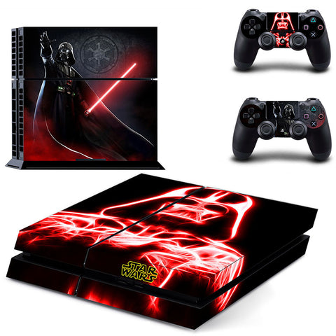 Star Wars Decal Sticker Cover For PS4 Console +2Pcs Controller Protective Skin