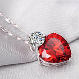 Affection of the Heart Jewelry Set - Ruby Red