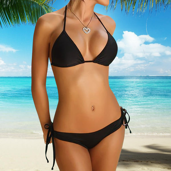 Perfect-Fit 2-Piece Bikini Set - Black