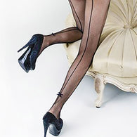 Back Seam Bow-Tie Tights (Also in Queen Size)