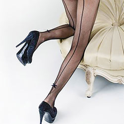 Back Seam Bow-Tie Pantyhose (Also in Queen Size)