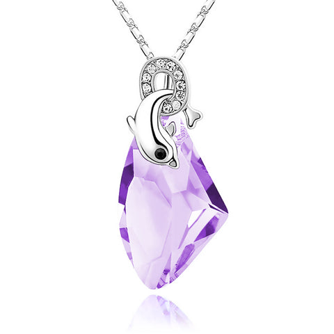 Seize the Moment Dolphin Necklace - Royal Purple