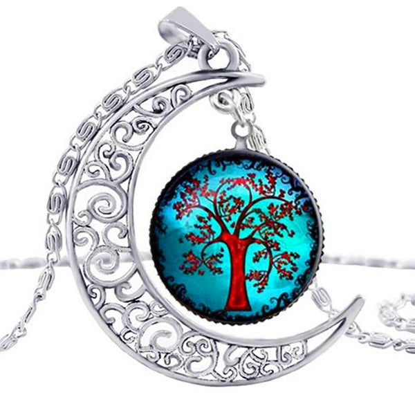 Earth Serenity Necklace, Aqua