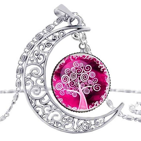 Earth Serenity Necklace - Pink Rose