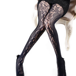 Edwardian Lace Pantyhose (Also in Queen Size)