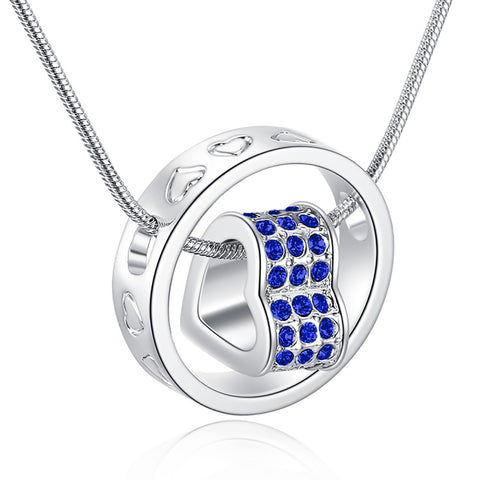 Eternal Love Necklace - Crisp Blue