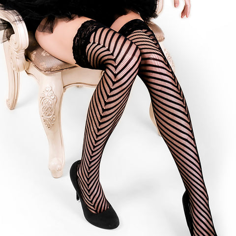 Fabulous Stripes Thigh Highs