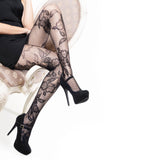 Florals In Bloom Pantyhose (Also in Queen Size)