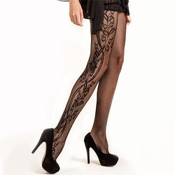 Flower Vine Pantyhose (Also in Queen Size)