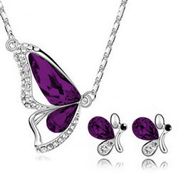 Freedom Butterfly Jewelry Set - Purple