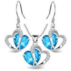 Heavenly Hearts Jewelry Set - Grand Blue