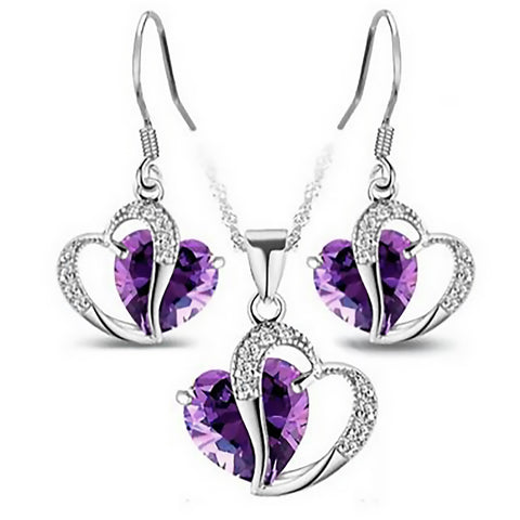 Heavenly Hearts Jewelry Set - Royal Purple