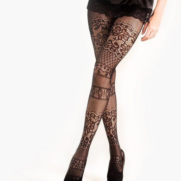 Jazzy Lace Pantyhose (Also in Queen Size)