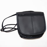 Multi-Pocket Leather Shoulder Bag