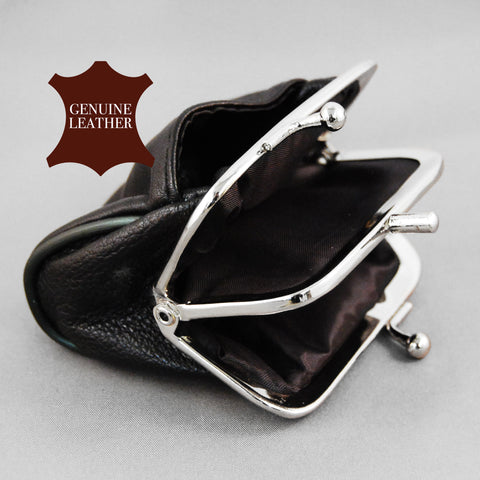 Leather Coin Purse With Clasp