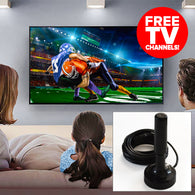 Turbo-Stick HDTV TV Antenna (FREE Digital TV Channels) - Black