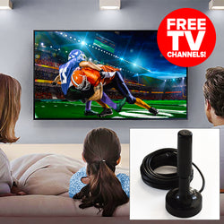 Turbo-Stick HDTV Digital TV Antenna (FREE TV Channels) - Black