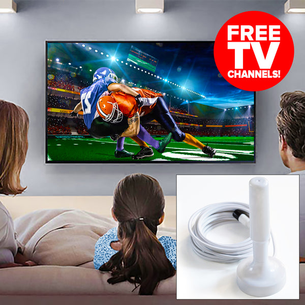 Turbo-Stick HDTV Digital TV Antenna (FREE TV Channels) - White