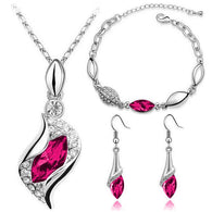 Eternal Memories Jewelry Set, Red Rose