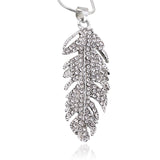 Posh Plume Necklace - Silver